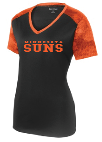 Picture of Suns Ladies ST CamoHex Colorblock V-Neck Tee